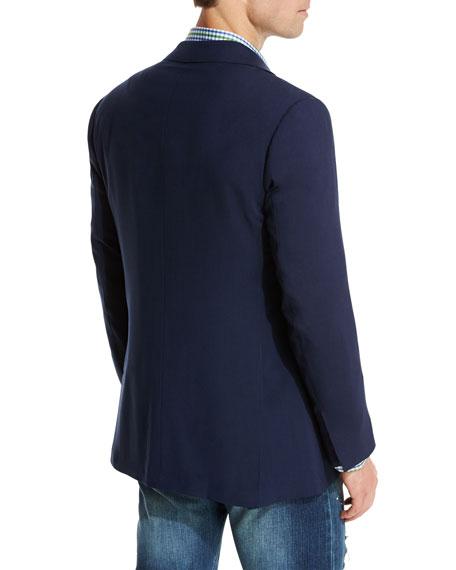 Cashmere Three-Button Sport Coat, Navy
