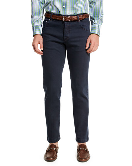 Twill Five-Pocket Jeans, Navy