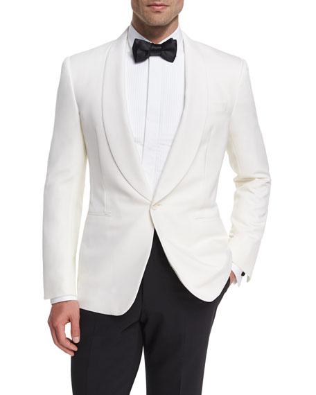 Anthony Wool Dinner Jacket, White