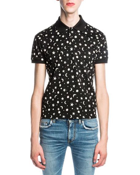 908e85d7d8 Moon & Star Polo Shirt Black