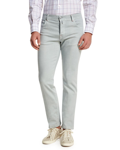 Twill Five-Pocket Jeans, Cement