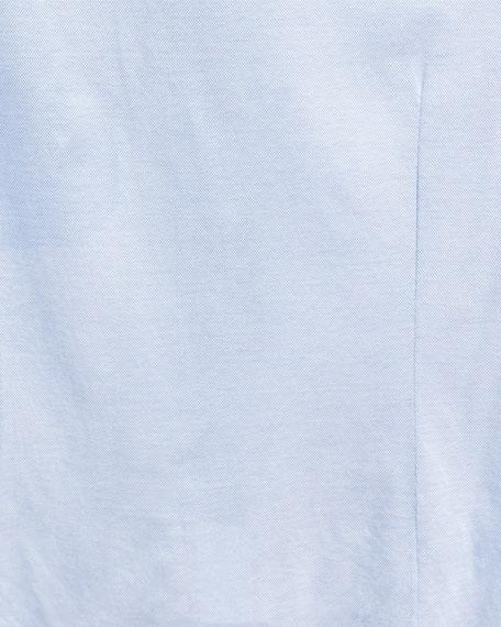 Pique Knit Oxford Shirt, Light Blue