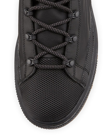 Men's Basket Mid-Winter Platform High-Top Sneaker, Black
