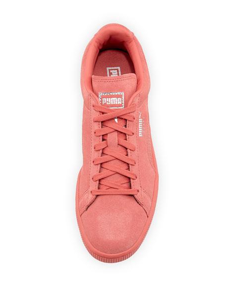 Men's Suede Classic Mono Reptile Sneakers, Rose