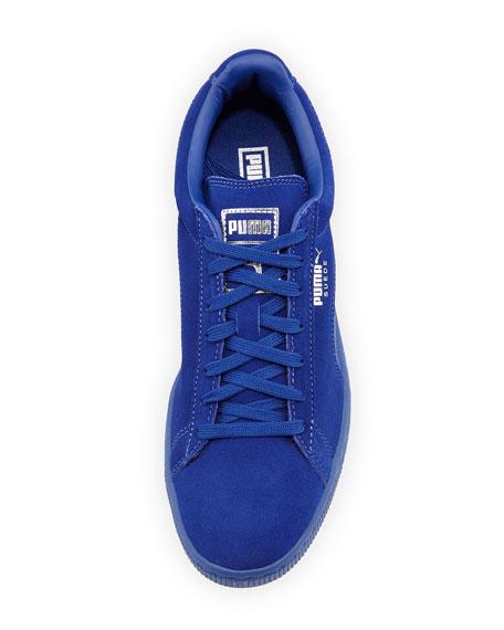 Men's Suede Classic Mono Reptile Sneakers, Royal Blue