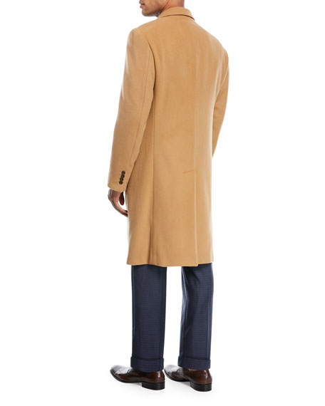 Wool & Cashmere Single-Breasted Topcoat