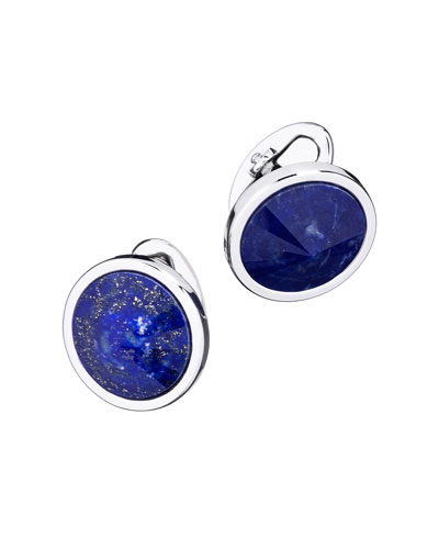Pyramid Sphere Cuff Links with Lapis