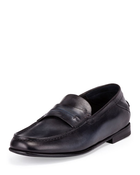 Berluti Gaspard Conduit College Loafer, Black