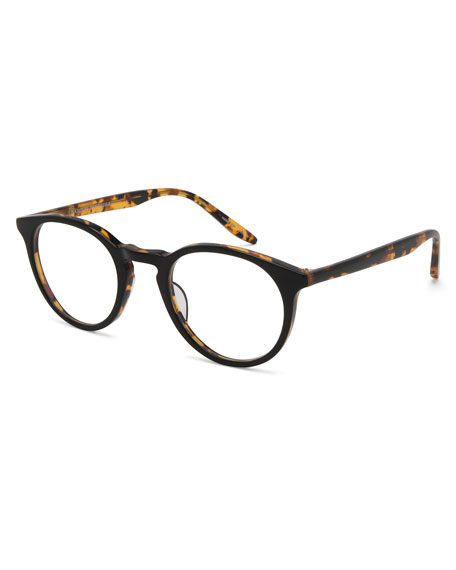 Princeton Round Acetate Optical Frames, Black/Tortoiseshell