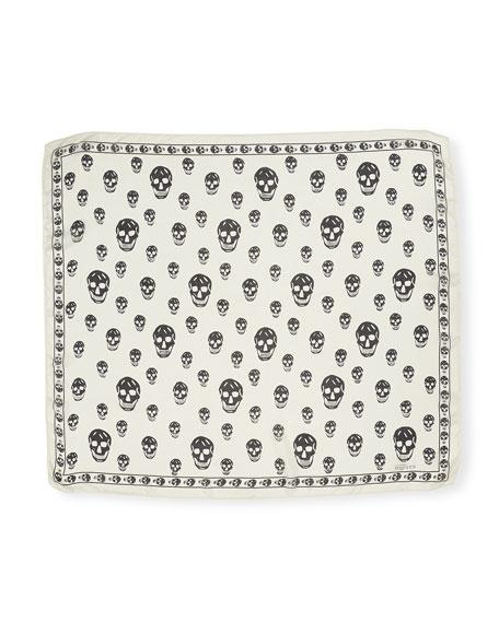 Men's Classic Silk Chiffon Skull Scarf