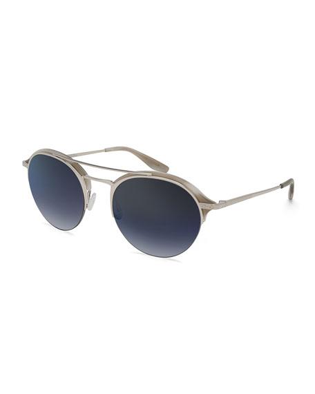 Men's Beauregard Round Acetate & Titanium Sunglasses