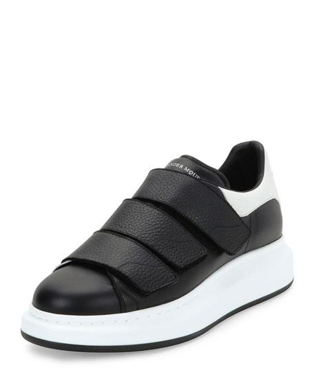 Alexander Mcqueen Bicolor Leather Trainer Sneakers Black