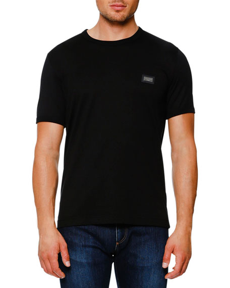 Logo Placket T-Shirt, Black