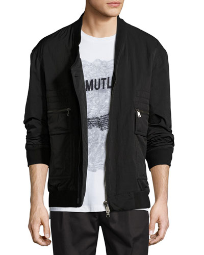 Crossover Bomber Jacket, Black