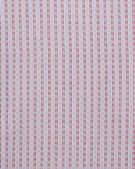 Textured-Stripe Dress Shirt, Red/White
