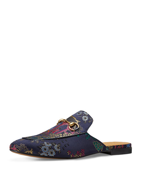 gucci princetown donald duck jacquard slippers