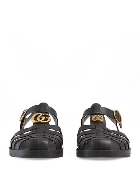 51f9d539147 Gucci Rubber Buckle Strap Sandal