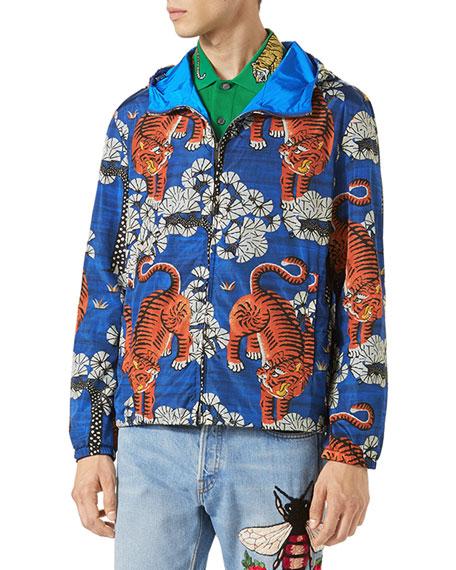 ebc29dbe6b7 Gucci Bengal Tiger-Print Jacket