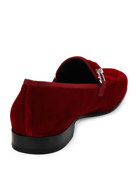 9a1e47e0be7 Salvatore Ferragamo Velvet Slip-On Loafer