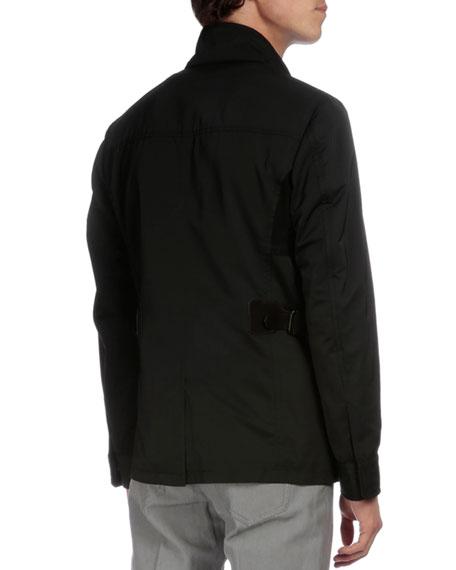 Lightweight Buckled-Side Jacket, Black