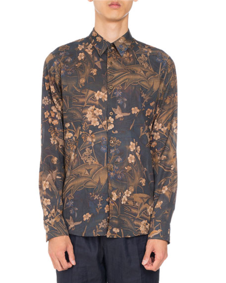 bdd775a397 Dries Van Noten Curley Floral-Print Shirt