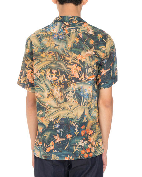 94fd84b078 Dries Van Noten Carlton Floral-Print Short-Sleeve Hawaiian Shirt ...