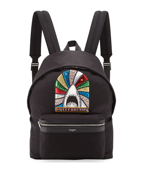 Sweet Dreams Canvas Twill Backpack, Black