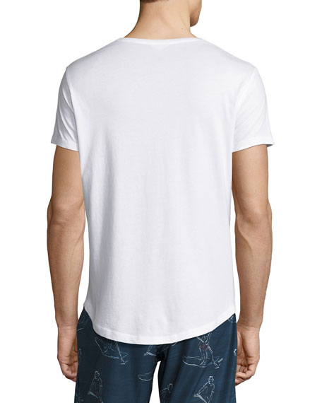 Canoe Canoodle Tailored-Fit Crewneck T-Shirt, White