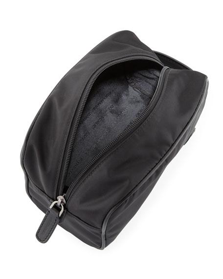 Nylon Toiletry Travel Case, Black