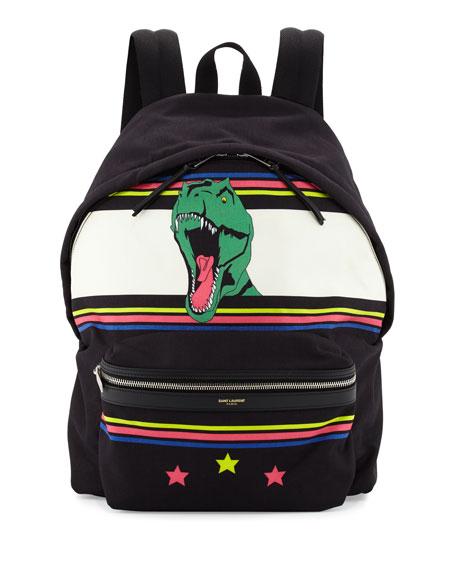 8a484eac8e Saint Laurent Men s Dinosaur Canvas Backpack