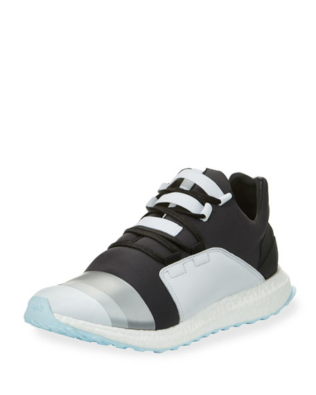 Y-3 Kozoko Colorblock Low-Top Sneaker, Black/Silver