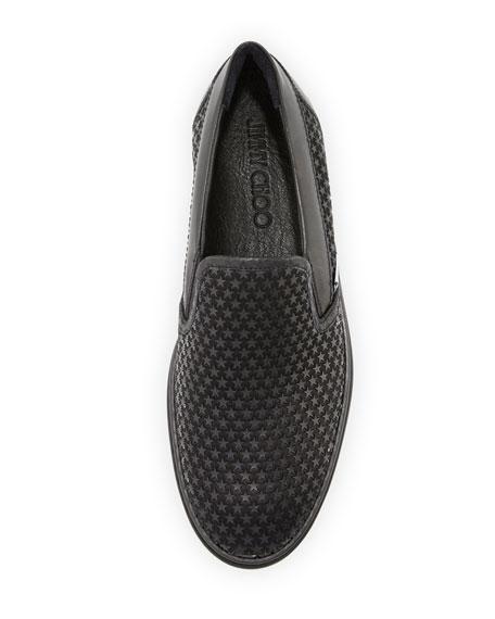 Grove Men's Rubber Star Slip-On Sneaker, Black