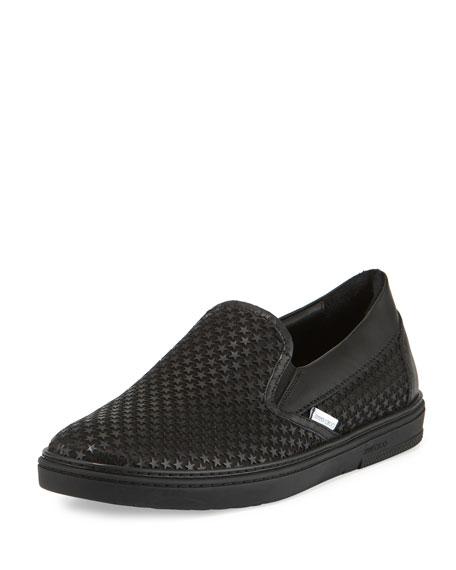 Grove Men's Rubber Star Slip-On Sneakers, Black