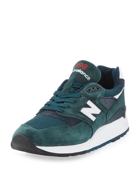 new product 49f76 a4396 Men's Age of Exploration 998 Colorblock Sneaker Green/Navy
