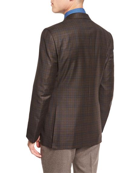Textured Two-Button Blazer, Black