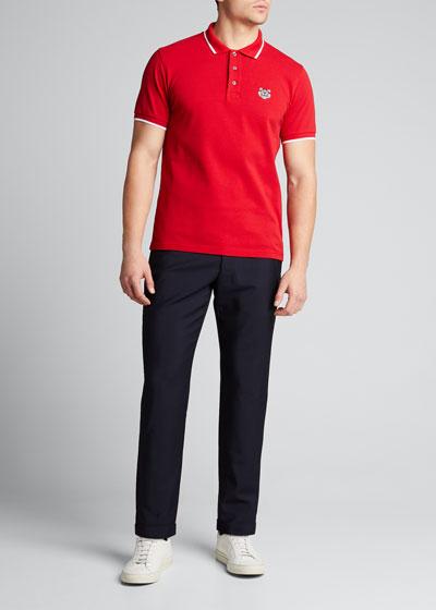 Men's Pique-Knit Polo Shirt