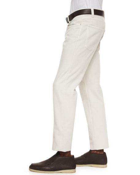 Soft Stretch-Cotton Slim-Fit Pants