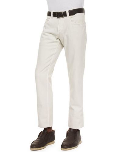Flat-Front Slim-Fit Pants