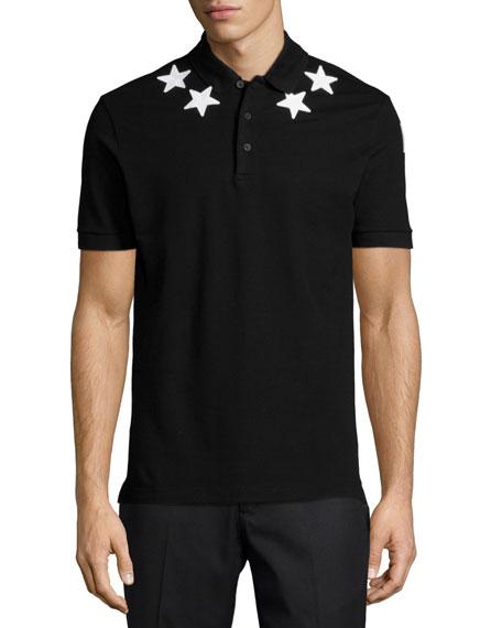 Cuban Star-Print Polo Shirt