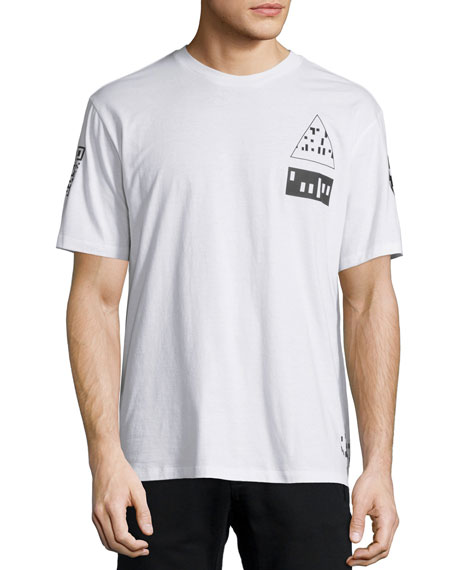 Etching Scanner Graphic Short-Sleeve T-Shirt, Multi