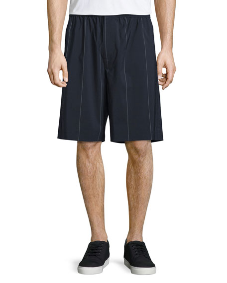 Pinstripe Board Shorts, Midnight
