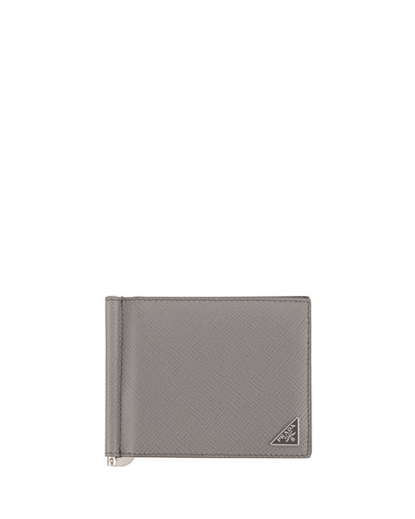 2390ba47a342 Prada Bicolor Saffiano Leather Card Case w/ Money