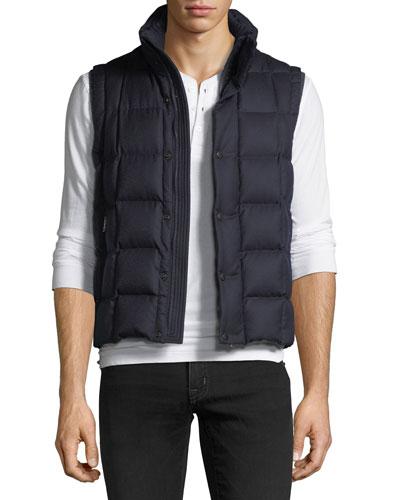 Tenay Box-Quilt Wool Vest