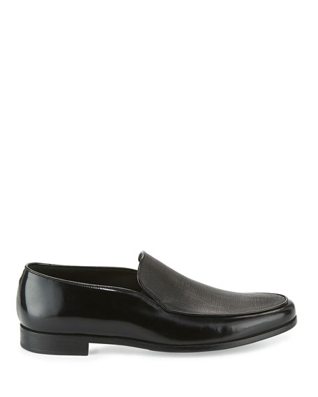 b03933ef542 Giorgio Armani Saffiano Leather Venetian Loafer