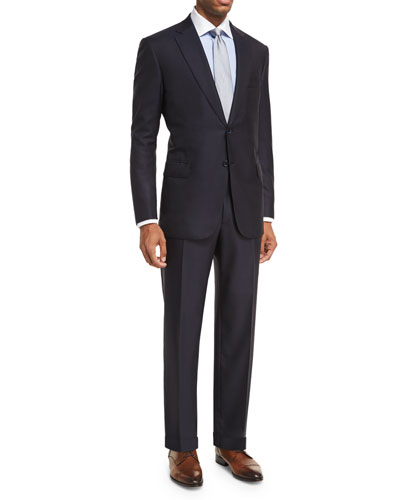 Essential Virgin Wool Two-Piece Suit, Navy