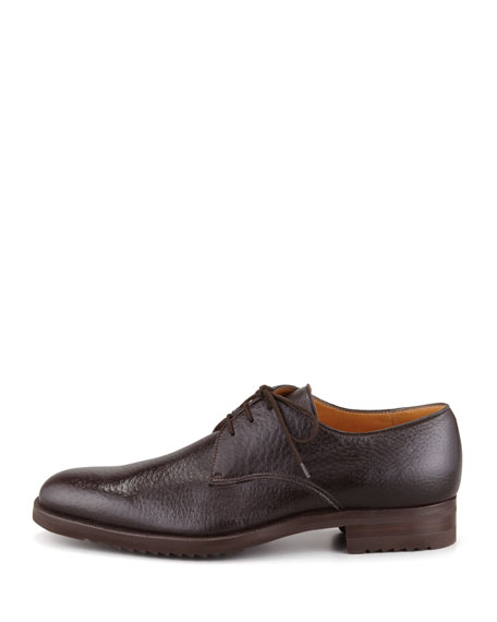 Peccary Leather Lace-Up Blucher