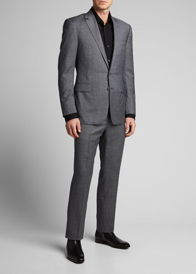 Men's Anthony Two-Piece Sharkskin Suit