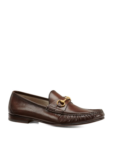 af04b90b7 Gucci Leather Horsebit Loafer