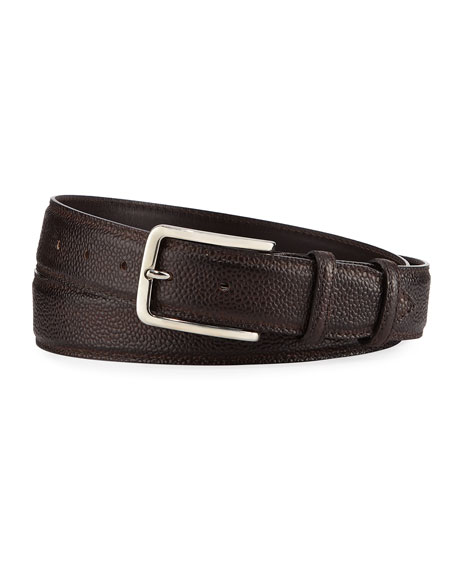35mm Pebbled Leather Belt