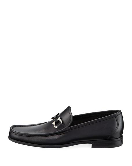 Gancini-Bit Leather Moccasin Loafer